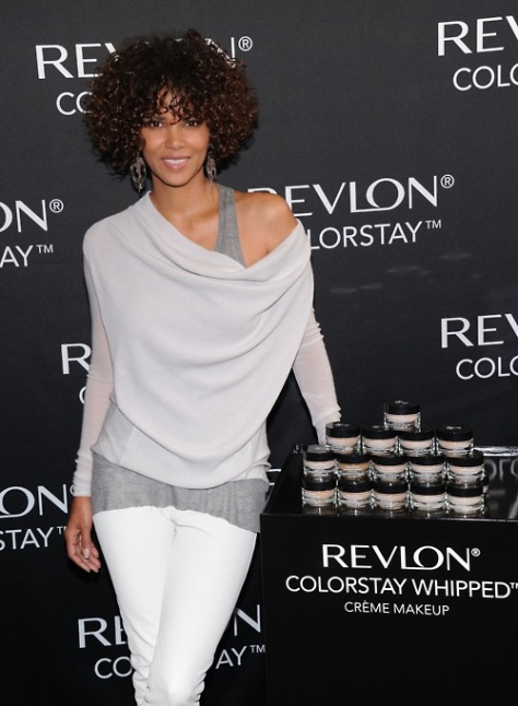 Halle Berry at the Revlon ColorStay Whipped Creme Makeup Launch