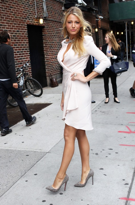 Blake Lively - at Late Show with David Letterman in New York 06/26/12