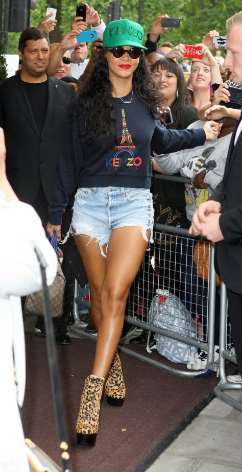 Rihanna - leaving her hotel in London 8/28/12