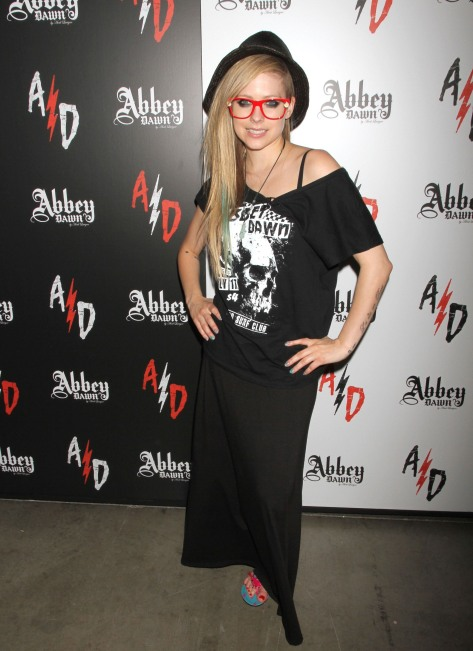 Avril Lavigne - Abbey Dawn booth at the MAGIC Convention in Las Vegas 08/21/12