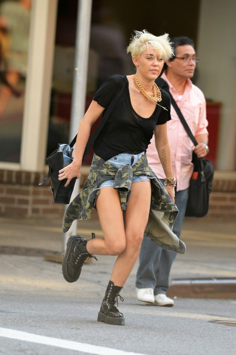 Miley Cyrus out and about in New York City 8/23/12