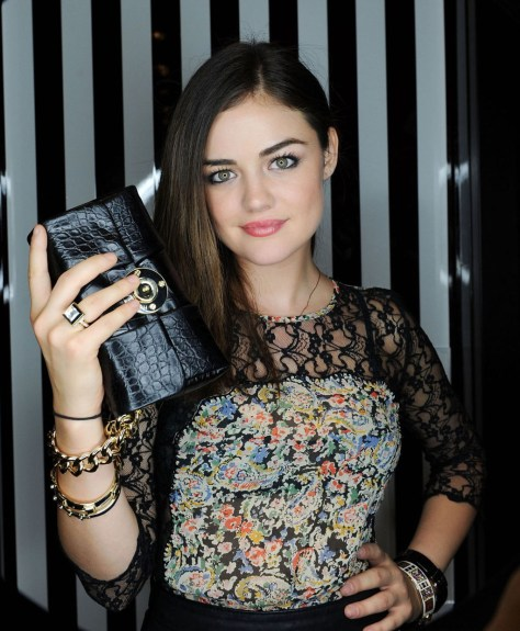 Lucy Hale - Henri Bendel opening at Fashion Show mall in Las Vegas 08/29/12