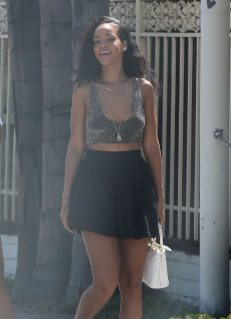 Rihanna - Shopping in West Hollywood - 08/24/12