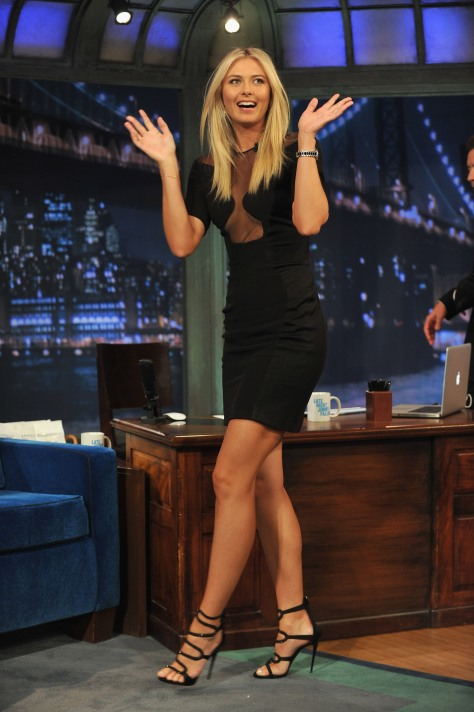 Maria Sharapova on Jimmy Fallon 8-20-12