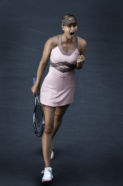 Maria Sharapova 2012 Nike US Open Outfit (Day)