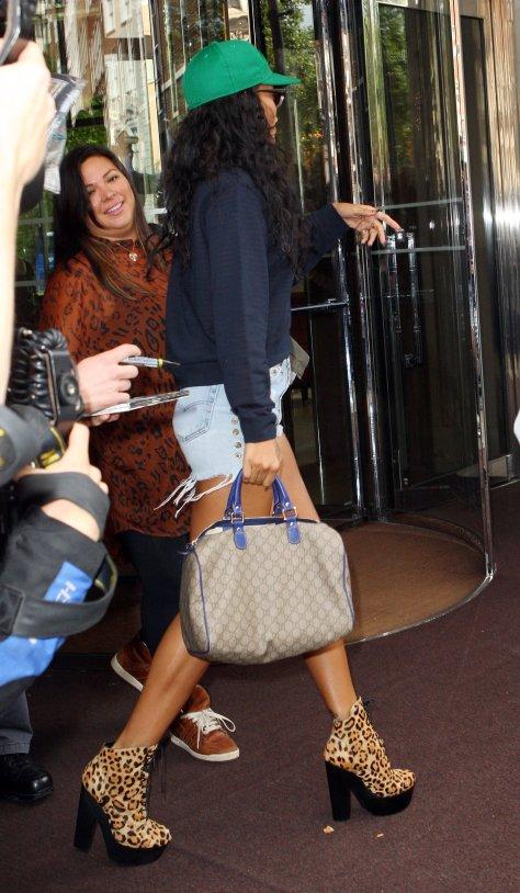 Rihanna - leaving her hotel in London 8/28/12