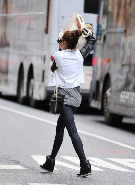 Amanda Bynes out & about in New York 9/29/12