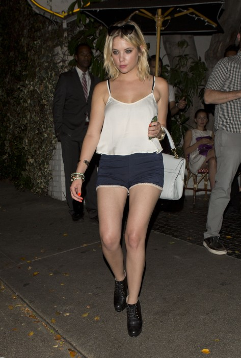 Ashley Benson - leaving the Chateau Marmont in West Hollywood 09/15/12