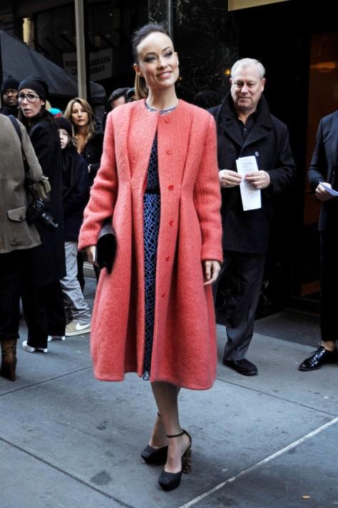 Olivia Wilde - Calvin Klein fashion show in New York - 02/14/13