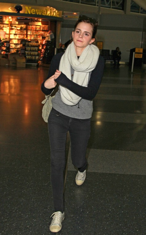 Emma Watson - Arrives at JFK Airport in New York City - 2/13/13