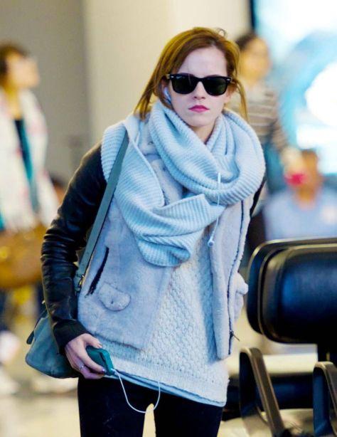 Emma Watson at LAX Airport - 02/25/13