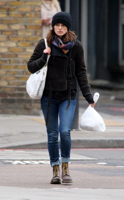 Keira Knightley - out and about in London - 2/25/13