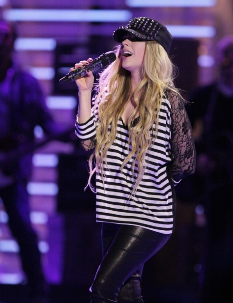 Avril Lavigne - rehearsing for the Much Music Video Awards in Toronto (6-14-13)