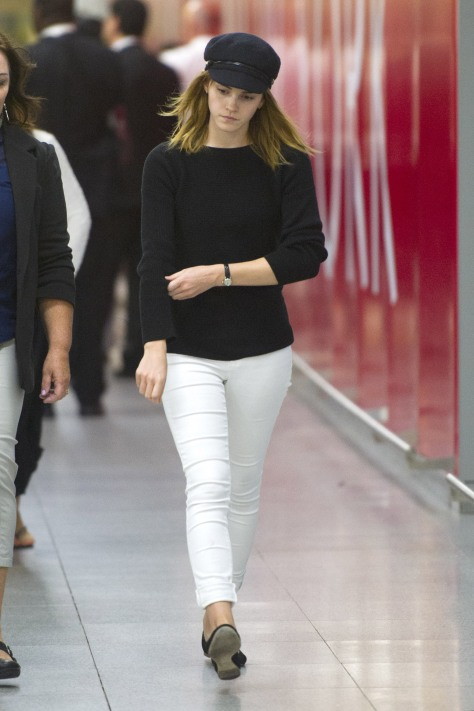 Emma Watson - Arriving at JFK Airport in NY - 6/23/13