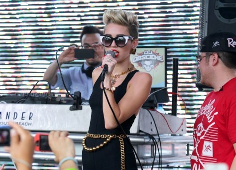 Miley Cyrus - at the Y100 Mack-A-Poolooza pool party in Miami 6/28/13