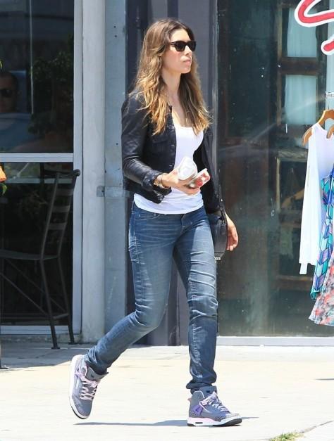 Jessica Biel - out in LA 7/1/13